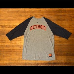 Nike Cooperstown Detroit Tigers 3/4 Tee, XL